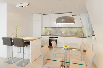 Interior of stylish modern house, kitchen