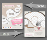 Ice Cream Store Front & Back Flyer Template