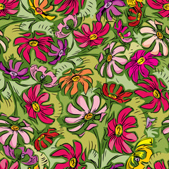 summer flowers seamless