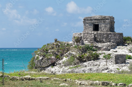 Tulum Ruins by the Caribbean Sea
