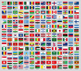 The update of the national flags of the world of 2013
