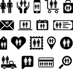 Conceptual Man&Woman icons