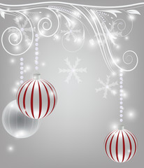 Elegant christmas decoration with diamonds