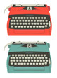Retro typewriter set - 57700824