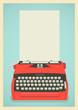 Retro typewriter background - 57700841
