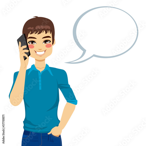 Man Speaking Using Phone