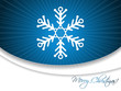 Christmas greeting card with snowflake