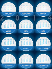 2014 calendar design with white labels