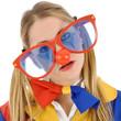 Clown mit großer Brille