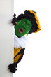 groene Zwarte piet ( black pete) typical Dutch character