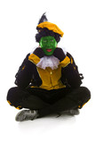 Annoyed Zwarte piet ( black pete) typical Dutch character