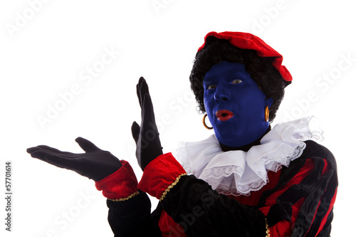 Blue piet ( black pete) jest on typical Dutch character
