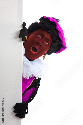 rode Zwarte piet ( black pete) typical Dutch character