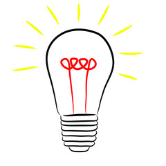 Light bulb vector