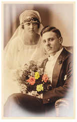 Brautpaar vor 100 Jahren