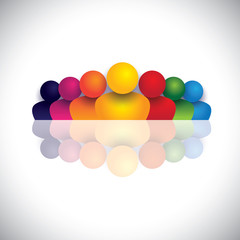 leader & leadership concept with colorful people icons