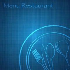 Restaurant menu_blue