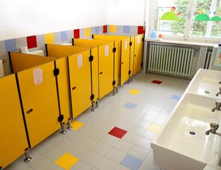 small bathrooms of children in a kindergarten
