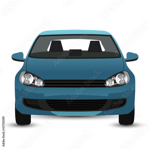 Blue Car - front view