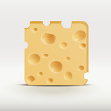 vector illustration web app icon of cheese.