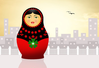 Traditional russian matryoshka doll