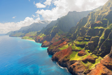 Na Pali Coast on Kauai island in summer