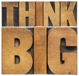 Fototapety think big in wood type