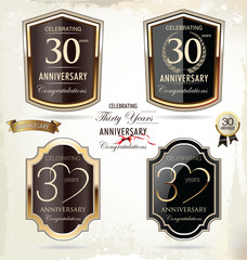 30 years anniversary golden label