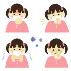風邪の症状 女の子 / symptom of cold