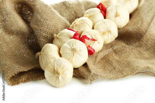 Vintage garlic  and pepper decoration,
