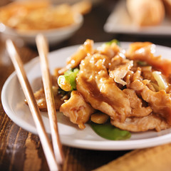 chinese food - stir fry chicken with vegetables