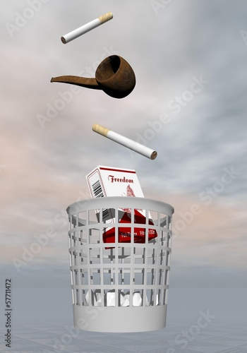Stop smoking - 3D render