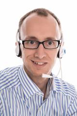 Mann mit Headset - Telefonverkauf, Telefonmarketing, Callcenter