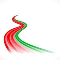 Abstract waving Portuguese, Bangladeshi and Moroccan flag