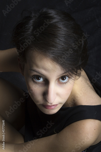 Beautiful young girl portrait color image
