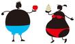 リンゴ型と洋梨型の肥満体型