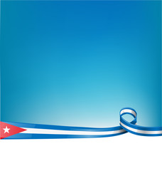 background with cuba flag