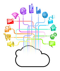 gommette-cloud réseau multicolor