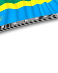 Designelement Flagge Ruanda