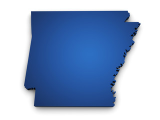 Map Of Arkansas 3d Shape