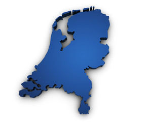 Map Of Netherlands 3d Shape