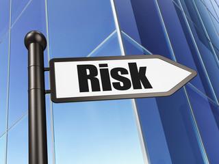 Business concept: Risk on Building background