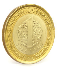 Turkish Lira Coin Isolated