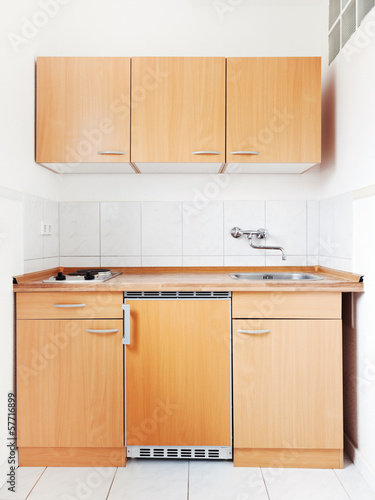 white kitchen with furniture set