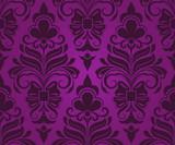 Seamless purple ornament vector pattern.