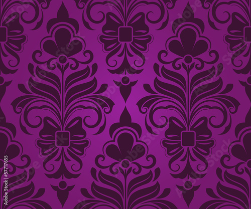 Papiers peints Artificiel Seamless purple ornament vector pattern.