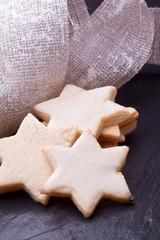 christmas lemon star shaped cookies