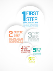 INFOGRAPHIC NUMBER OPTIONS  PROGRESS TEMPLATE