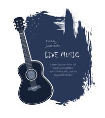 acoustic guitar banner