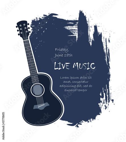 acoustic guitar banner - 57718615